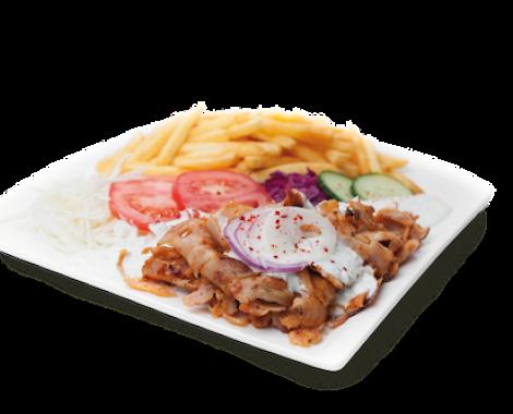 Kebab tanier s hranolkami - kebabkingdavid_sk